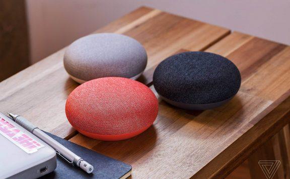 Google Home mini sur table