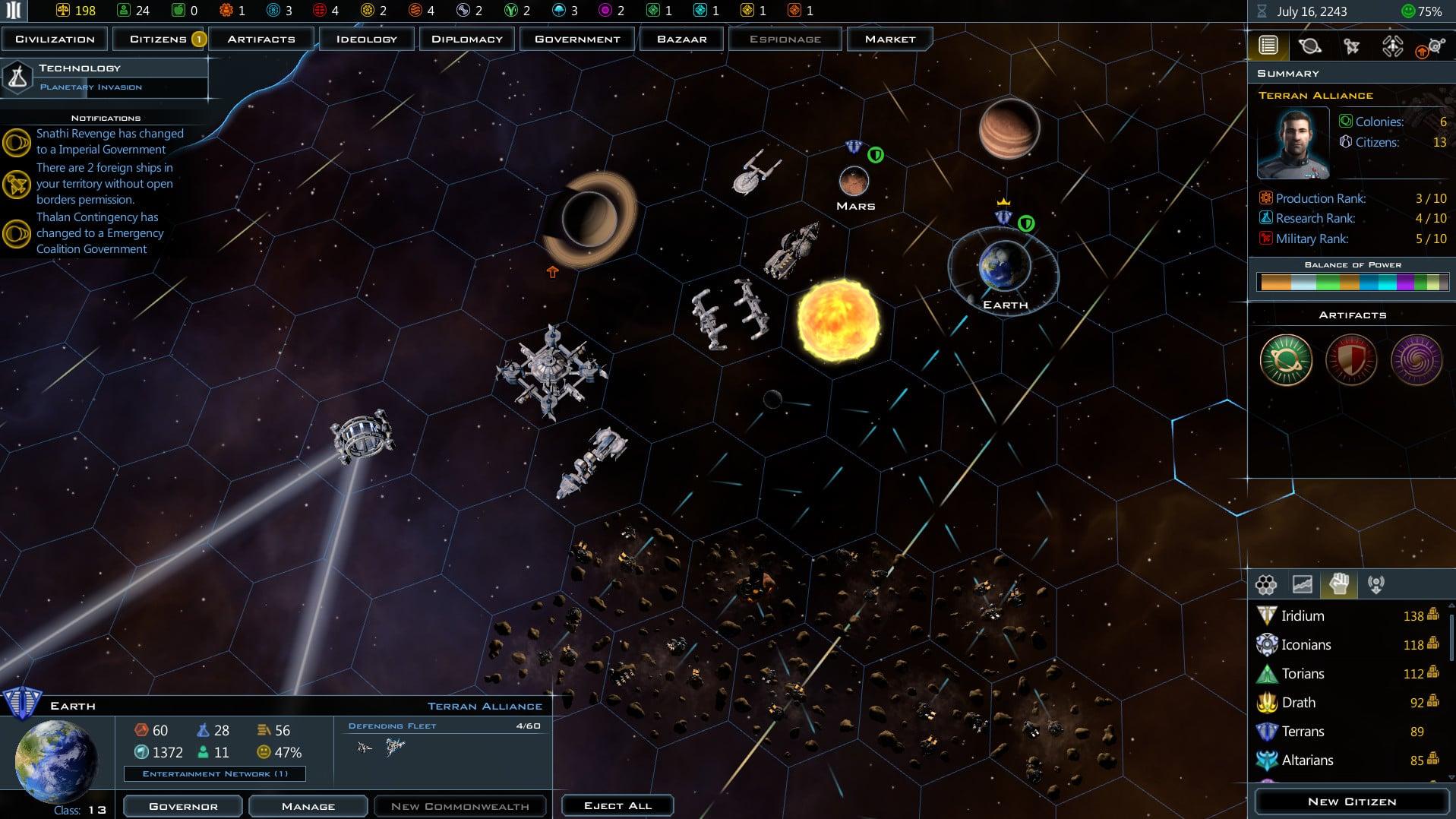 Le prochain jeu gratuit de l'Epic Games Store : Galactic Civilizations III