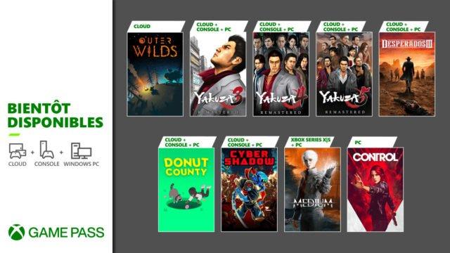 Xbox Game Pass : Nouveaux jeux !
